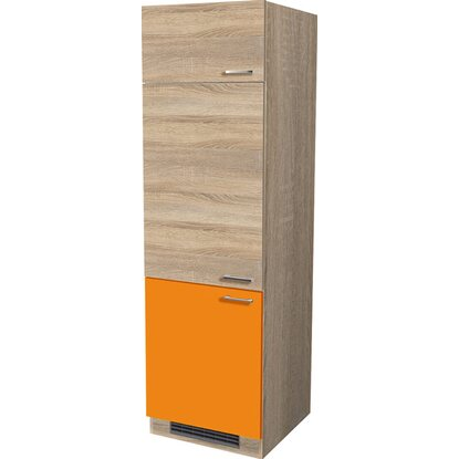 Flex-Well Classic Geräteumbaushrank Flexia 60 cm Orange/Weiß-Sonoma Eiche