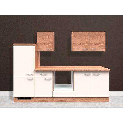 Flex well classic küchenzeile florida 270 cm ohne e geräte sonoma eiche weiß