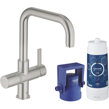 Grohe U-Auslauf Starter Kit Blue Pure Supersteel