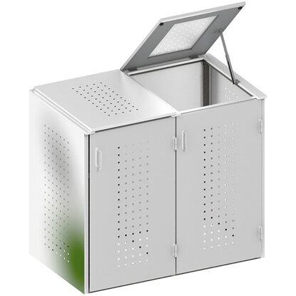 m lltonnenbox binto 6 edelstahl 2er box mit klappdeckel kaufen bei obi. Black Bedroom Furniture Sets. Home Design Ideas