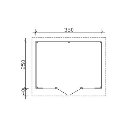 skan holz gartenhaus ostende 1 schiefergrau b x t 350 cm x 250 cm kaufen bei obi. Black Bedroom Furniture Sets. Home Design Ideas