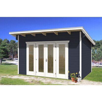 skan holz gartenhaus ostende 2 schiefergrau b x t 400 cm x 300 cm kaufen bei obi. Black Bedroom Furniture Sets. Home Design Ideas