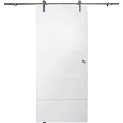 obi holz schiebet r wei f r offenes laufrollensystem 90 cm x 205 cm kaufen bei obi. Black Bedroom Furniture Sets. Home Design Ideas