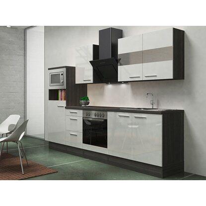 Respekta premium küchenzeile rp270ewcmis 270 cm weiß eiche grau nachbildung