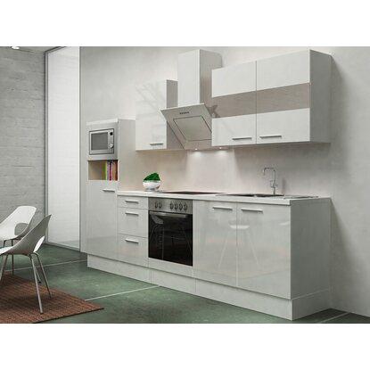 Respekta premium küchenzeile rp270wwcmis 270 cm weiß