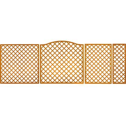 Sichtschutzzaun element pergola pinienfarben 180 cm x 60 - Zaunelemente obi ...