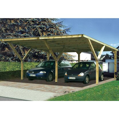 weka doppel carport mugello a mit stahldach kaufen bei obi. Black Bedroom Furniture Sets. Home Design Ideas