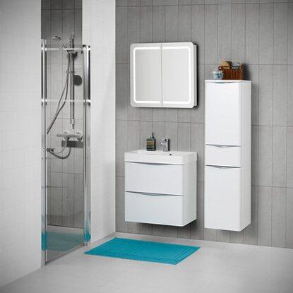 Scanbad badm bel set 80 cm mit spiegelschrank samba wei hochglanz 3 teilig kaufen bei obi - Scanbad spiegelschrank ...