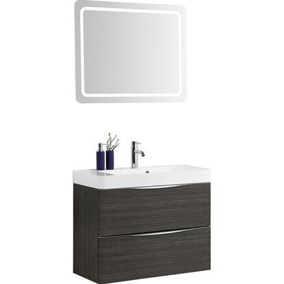 scanbad badm bel set 80 cm mit spiegelpaneel samba hacienda braun 3 teilig kaufen bei obi. Black Bedroom Furniture Sets. Home Design Ideas