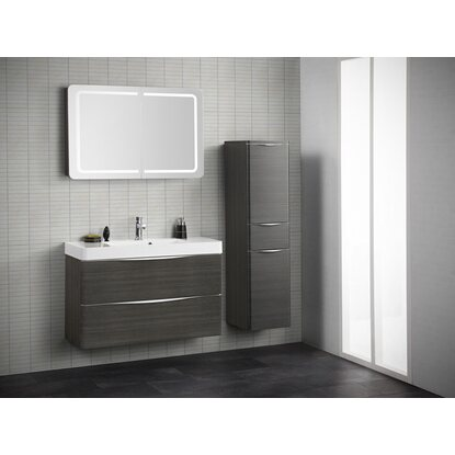 scanbad badm bel set 100 cm mit spiegelschrank samba. Black Bedroom Furniture Sets. Home Design Ideas