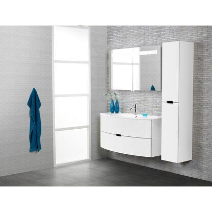 scanbad badm bel set 90 cm mit spiegelschrank modern wei. Black Bedroom Furniture Sets. Home Design Ideas