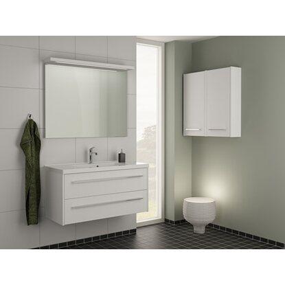 scanbad badm bel set 100 cm mit spiegelpaneel fox wei matt 3 teilig kaufen bei obi. Black Bedroom Furniture Sets. Home Design Ideas