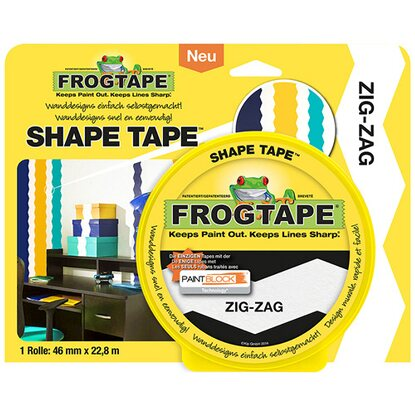 Frogtape Shape Tape Zig-Zag 46 mm x 22,8 m