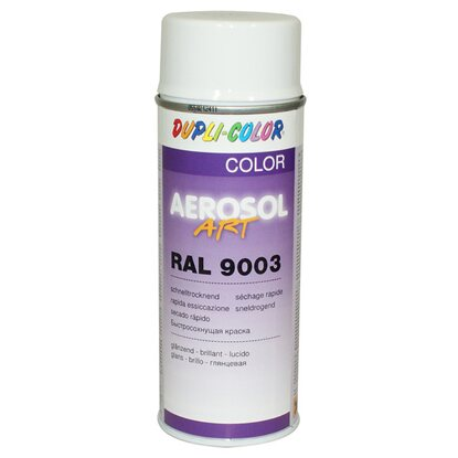 Dupli-Color Lackspray Aerosol-Art RAL 9003 Signalweiß 400 ml