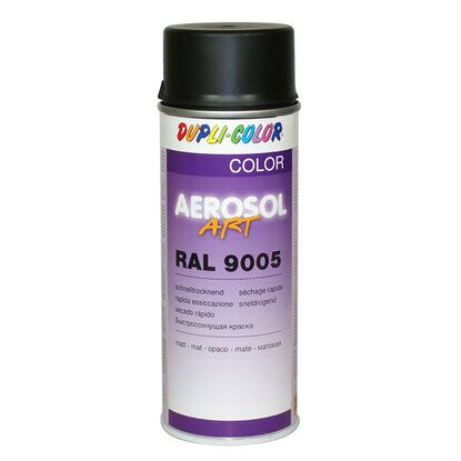 Dupli-Color Lackspray Aerosol-Art RAL 9005 Tiefschwarz matt 400 ml