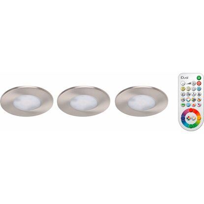 iDual LED-Einbauleuchte Performa Satin 3er-Set EEK: A+