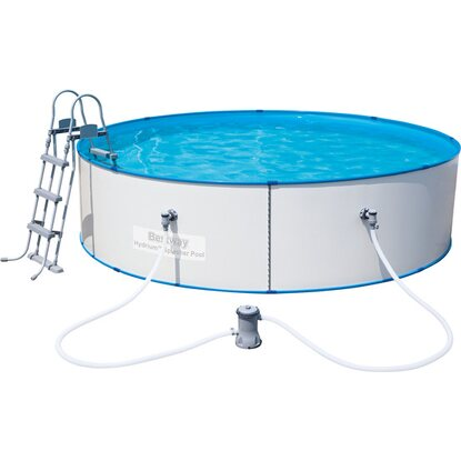 Bestway stahlwand pool set 360 cm x 90 cm kaufen bei obi for Bestway pool obi