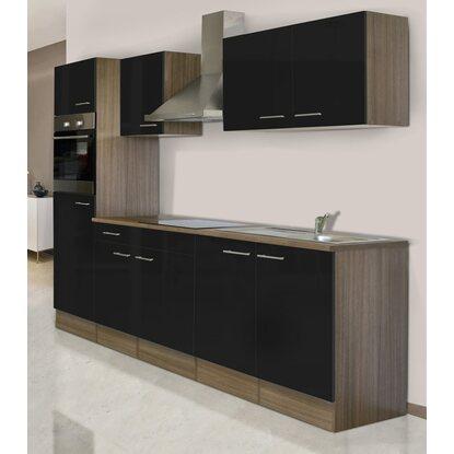 respekta k chenzeile kb270eys 270 cm schwarz eiche york nachbildung kaufen bei obi. Black Bedroom Furniture Sets. Home Design Ideas