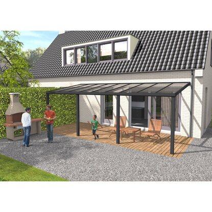 terrassenüberdachung struktur anthrazit vs glas 700 x 250 cm,