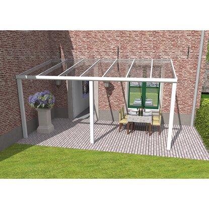 Terrassenuberdachung Weiss Vs Glas 400 X 300 Cm Kaufen Bei Obi
