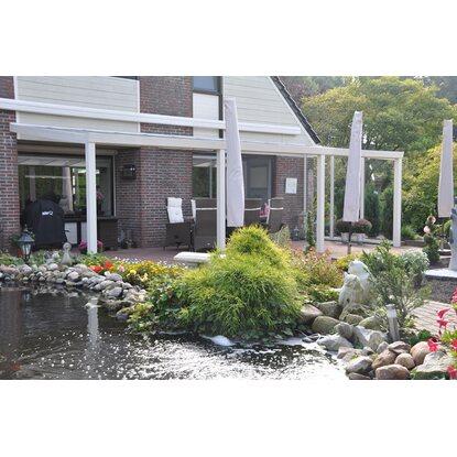 Terrassenuberdachung Weiss Vs Glas 700 X 350 Cm Kaufen Bei Obi