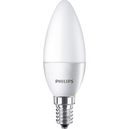 Philips LED-Leuchtmittel Kerzenform E14/5,5 W (470 lm) Warmweiß 2er-Pack EEK: A+