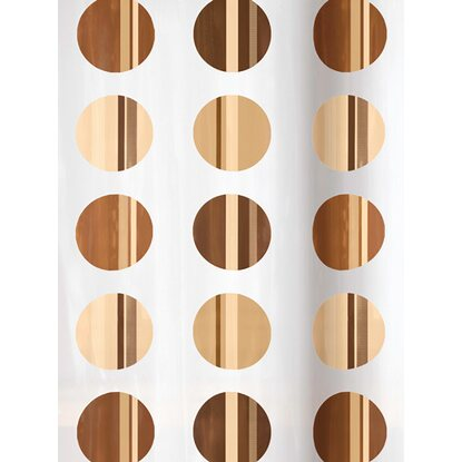 OBI Duschvorhang Point Deco-Line 180 cm x 200 cm Toffee