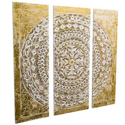 best of home wand objekt ornamentik gold 3 teilig kaufen bei obi. Black Bedroom Furniture Sets. Home Design Ideas