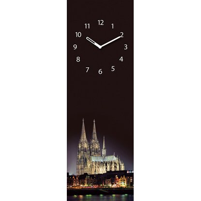 Eurographics Wanduhr Time Art Pride of Cologne 60 cm x 25 cm