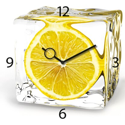 Eurographics Wanduhr Time Art Iced Lemon 30 cm x 30 cm