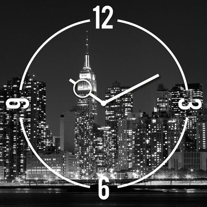 Eurographics Wanduhr Time Art New York Clock 30 cm x 30 cm
