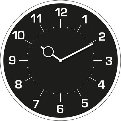 Eurographics Wanduhr Time Art Classic Black Clock 30 cm x 30 cm