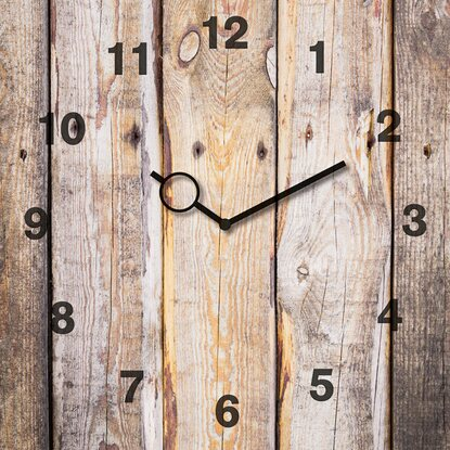 Eurographics Wanduhr Time Art Wooden Clock 30 cm x 30 cm