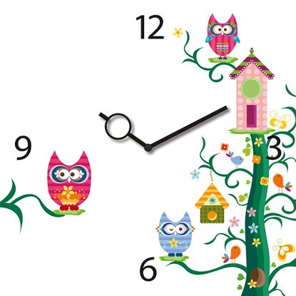 Eurographics Wanduhr Time Art Owl Tree Clock 30 cm x 30 cm