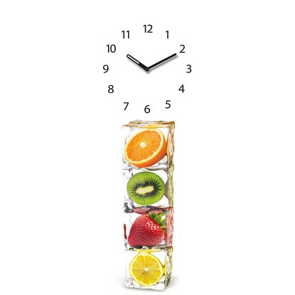 Eurographics Wanduhr Time Art Ice Cube Clock 20 cm x 60 cm