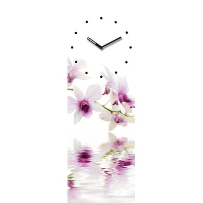 Eurographics Wanduhr Time Art White Orchid Reflections 20 cm x 60 cm