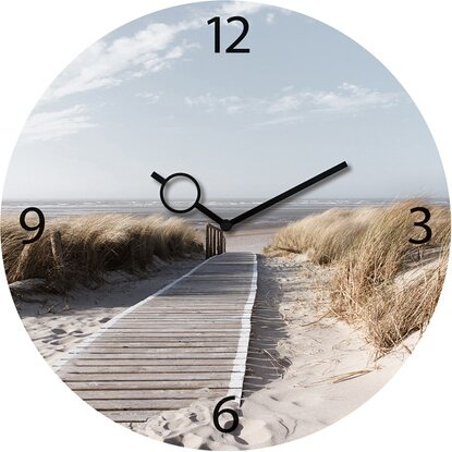 Eurographics Wanduhr Time Art Morning Walk 30 cm x 30 cm