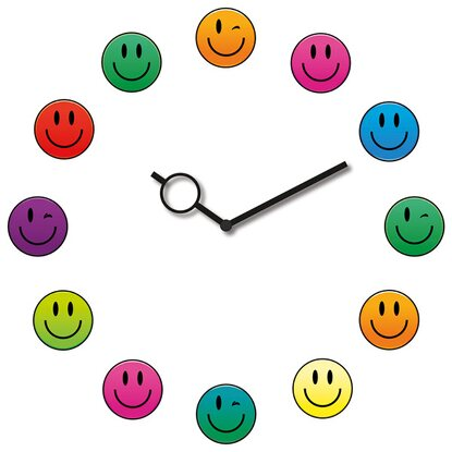 Eurographics Wanduhr Time Art Smiley Clock 30 cm x 30 cm