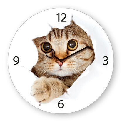 Eurographics Wanduhr Time Art Come Kitty! 30 cm x 30 cm