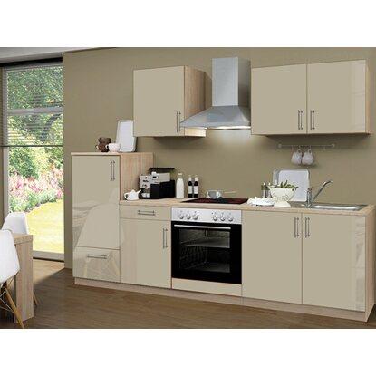 menke k chenzeile premium 270 cm sahara hochglanz sonoma eiche nachbildung kaufen bei obi. Black Bedroom Furniture Sets. Home Design Ideas