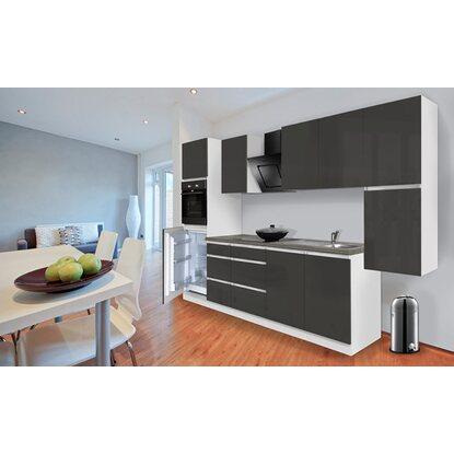 respekta k chenzeile ohne e ger te 320 cm grau hochglanz wei kaufen bei obi. Black Bedroom Furniture Sets. Home Design Ideas