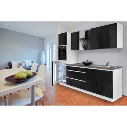 respekta k chenzeile glrp270hws grifflos 270 cm schwarz. Black Bedroom Furniture Sets. Home Design Ideas