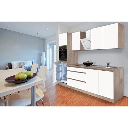 respekta k chenzeile ohne e ger te 270 cm wei matt eiche s gerau nachb kaufen bei obi. Black Bedroom Furniture Sets. Home Design Ideas