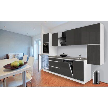 respekta k chenzeile ohne e ger te 330 cm grau hochglanz wei kaufen bei obi. Black Bedroom Furniture Sets. Home Design Ideas
