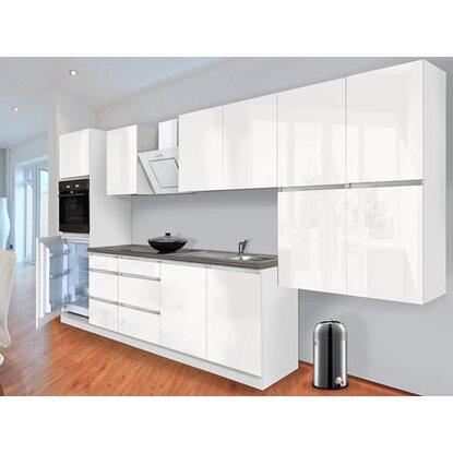 respekta k chenzeile glrp370hww grifflos 370 cm wei hochglanz kaufen bei obi. Black Bedroom Furniture Sets. Home Design Ideas