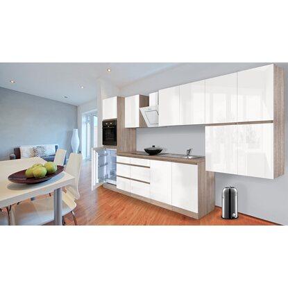respekta k chenzeile ohne e ger te 370 cm wei hochglanz eiche s gerau nachb kaufen bei obi. Black Bedroom Furniture Sets. Home Design Ideas