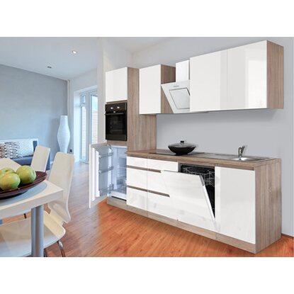respekta k chenzeile glrp280hesw grifflos 280 cm wei hochglanz sonoma eiche kaufen bei obi. Black Bedroom Furniture Sets. Home Design Ideas