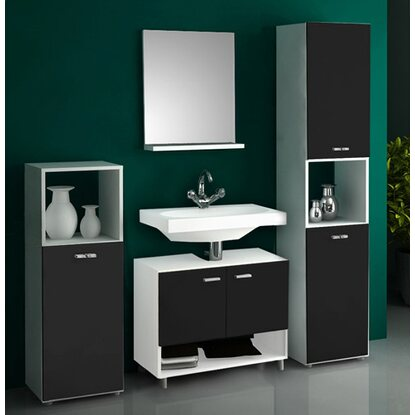 vcm badm bel set pandol wei schwarz 4 teilig kaufen bei obi. Black Bedroom Furniture Sets. Home Design Ideas
