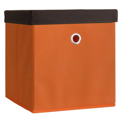 VCM Stoffbox Boxas Orange mit Deckel