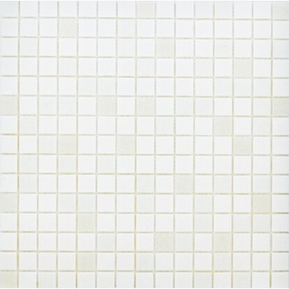 Glasmosaikmatte White-Mix 32,6 cm x 32,6 cm